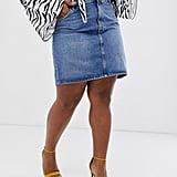 ASOS DESIGN Curve Denim Original High Waisted Skirt