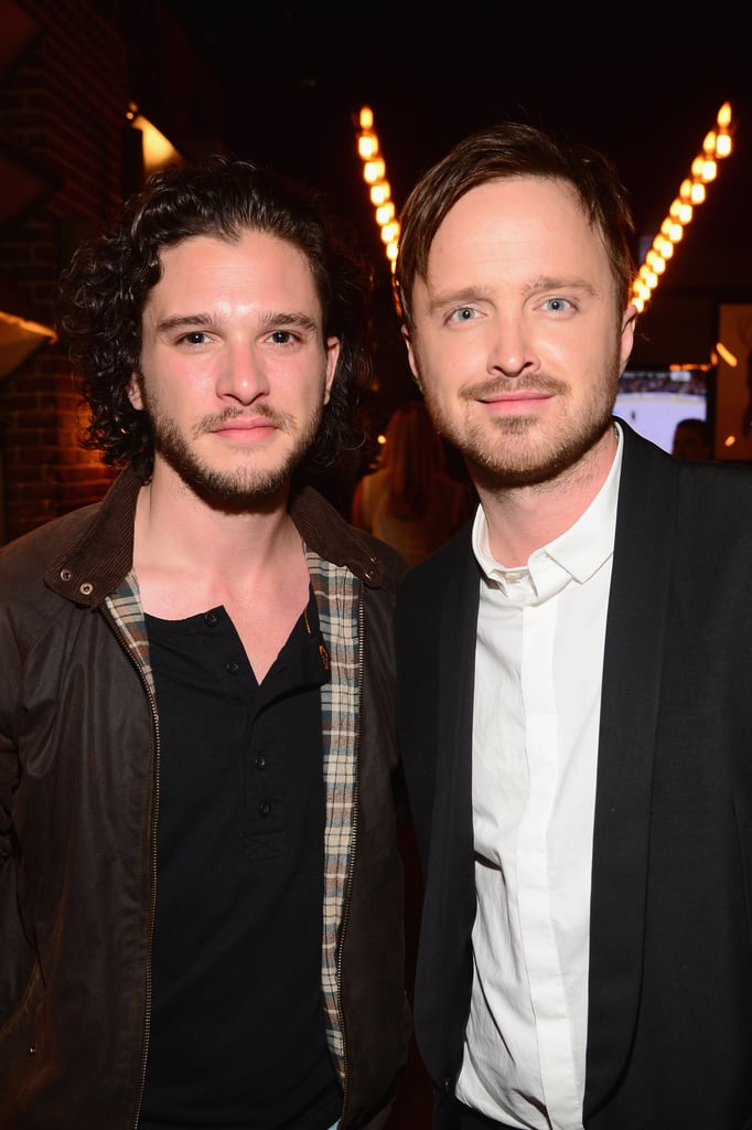 Aaron Paul hung out with Kit Harington.