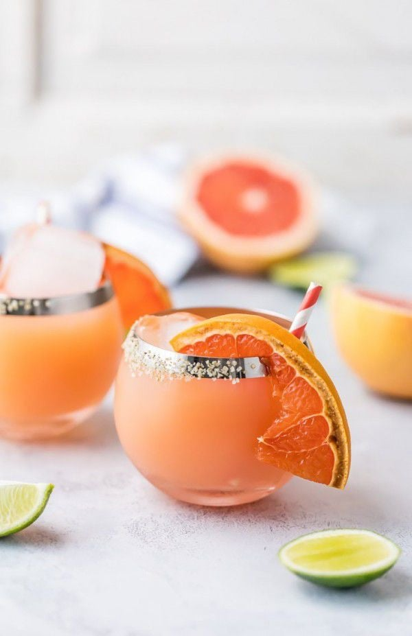 Grilled Grapefruit Margarita