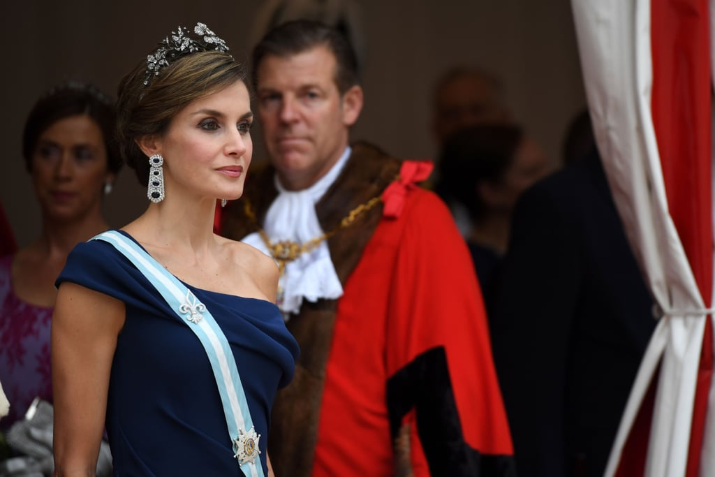 Queen Letizia Wore a Stunning Pair of Sapphire and Diamond Earrings