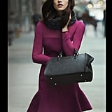 A fuchsia-hued fit and flare looks ultrachic on Ashley Greene for DKNY.