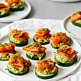 Smoked Salmon, Avocado, and Cucumber Bites