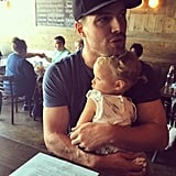 He cuddled up to his little girl during a Sunday outing in July 2015.