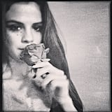 Selena Gomez stopped to smell the roses. Source: Instagram user selenagomez