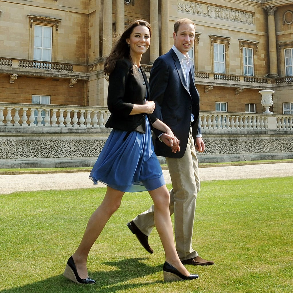 "Prince William and Kate Middleton were beaming as they stepped out of Buckingham Palace this morning, headed on a romantic weekend away. Duchess Catherine wore a gorgeous blue dress and blazer as she held hands with her new husband, who also had a big grin on his face. It's not their honeymoon just yet as the palace said in a press release on their official website, ""The Duke and Duchess of Cambridge have chosen not to depart for a honeymoon immediately.  Instead, after spending the weekend privately in the United Kingdom, The Duke will return to work as a Search and Rescue pilot next week. The locations of both their private weekend before The Duke returns to work and their future honeymoon, which will be overseas, will not be disclosed in advance."" William and Kate's wedding was an amazing affair from start to finish and hopefully they can enjoy a relaxing weekend together basking in the newlywed glow. In case you missed any of the action yesterday, check out all the best royal wedding pictures and the most gorgeous moments of Kate Middleton's wedding dresses!"