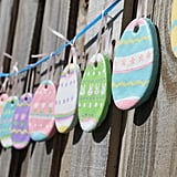 Salt Dough Easter Egg Garland