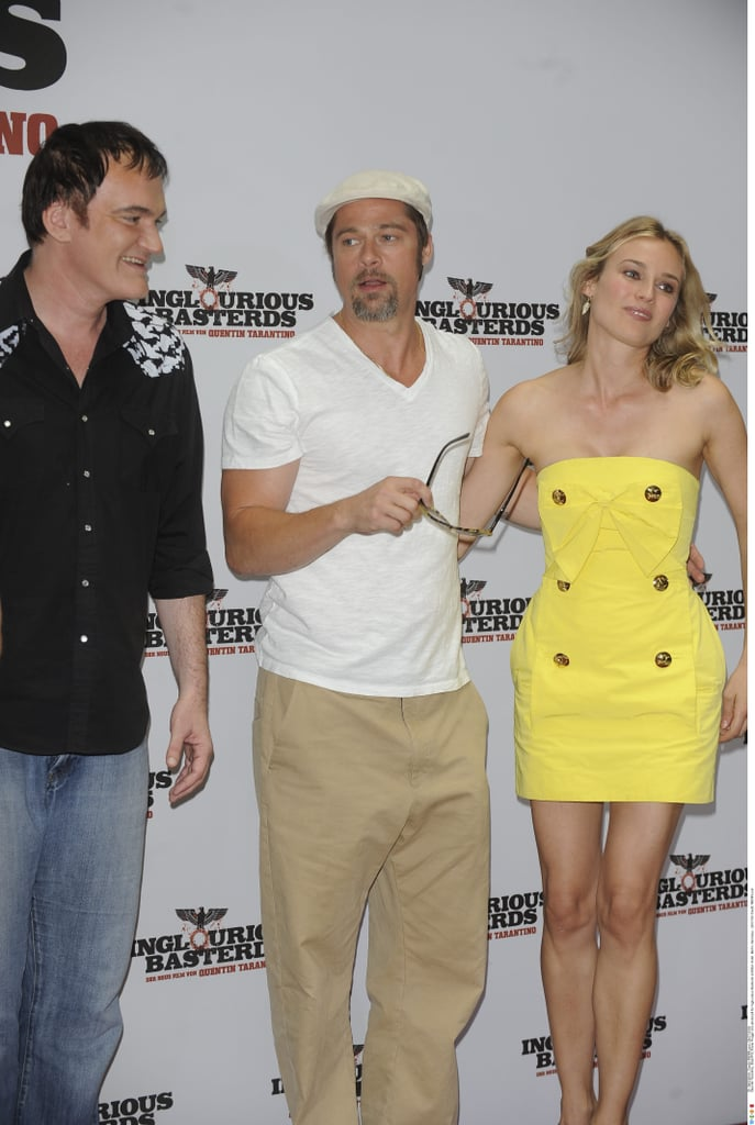 Brad Pitt and Diane Kruger In Berlin For Inglourious Basterds Premiere