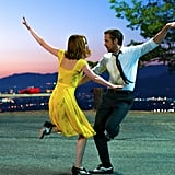 Emma Stone Dressed in Her Yellow La La Land Dress as Mia