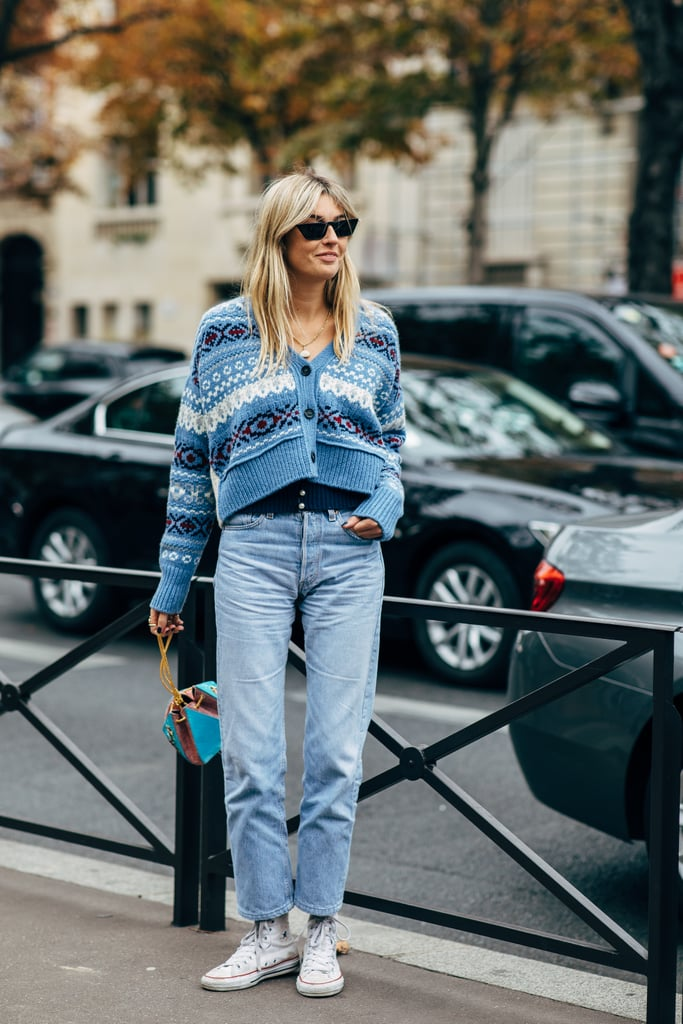 02bfc7fe533e Layer 2 Knits on Top of Each Other and Wear Mom Jeans With High-Top ...