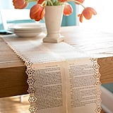 Book Page Table Runners