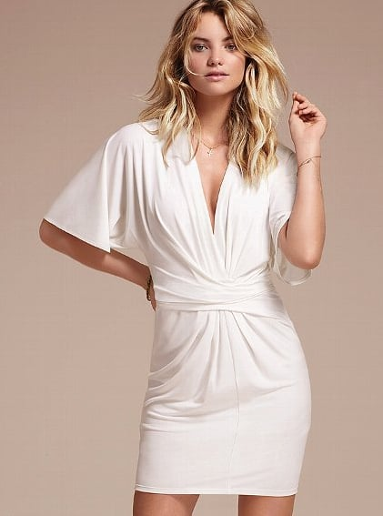 Who says holiday dresses can't be white? Embrace ultrachic Winter white with this Victoria's Secret Flutter-Sleeve Dress ($88) — and you'll also get a superflattering fit.
