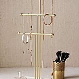 Marble and Brass Jewelry Stand