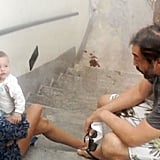 Javier Bardem and Penelope Cruz Relax With Adorable Baby Leo in Italy