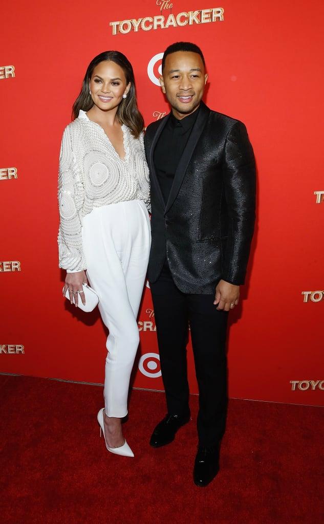 Chrissy Teigen and John Legend at Target's Toycracker