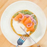 Loaded Egg, Lox, and Masa Corn Cake