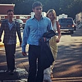 Ed Westwick, Chace Crawford, and Blake Lively worked on the sixth season of Gossip Girl.  Source: Instagram user julia_lourenco
