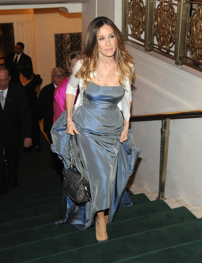 Sarah Jessica Parker threw on a vintage Oscar de la Renta ball gown, paired with a cardigan, to attend Monday night's Carnegie Hall Medal of Excellence gala at NYC's Waldorf-Astoria. The event was held to honour legendary New York Times photographer Bill Cunningham, who was the subject of the 2010 documentary Bill Cunningham New York. Bill was there to receive his praise, some of which was provided by Vogue's Anna Wintour and Hamish Bowles. In addition to honouring Bill, who spoke about his lengthy career, the bash raised $1.5 million for the music education programs at Carnegie Hall. Arts education is a cause SJP is particularly passionate about. She announced that she, along with other celebs like Kerry Washington and Forest Whitaker, are teaming up with President Obama to help increase student achievement at underperforming schools in the US by donating funds to increase access to arts programs.