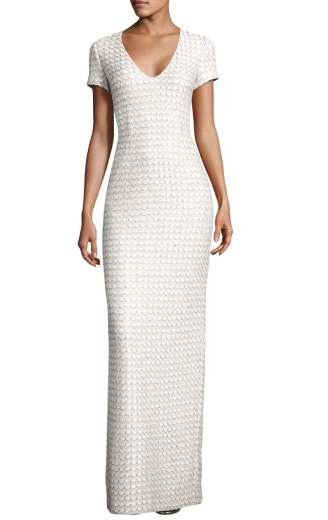 St. John Sequin Scallop Knit Gown