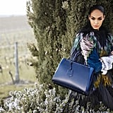 Joan Smalls looks gorgeous in a peacock-hued sweater from Fendi Fall 2012.