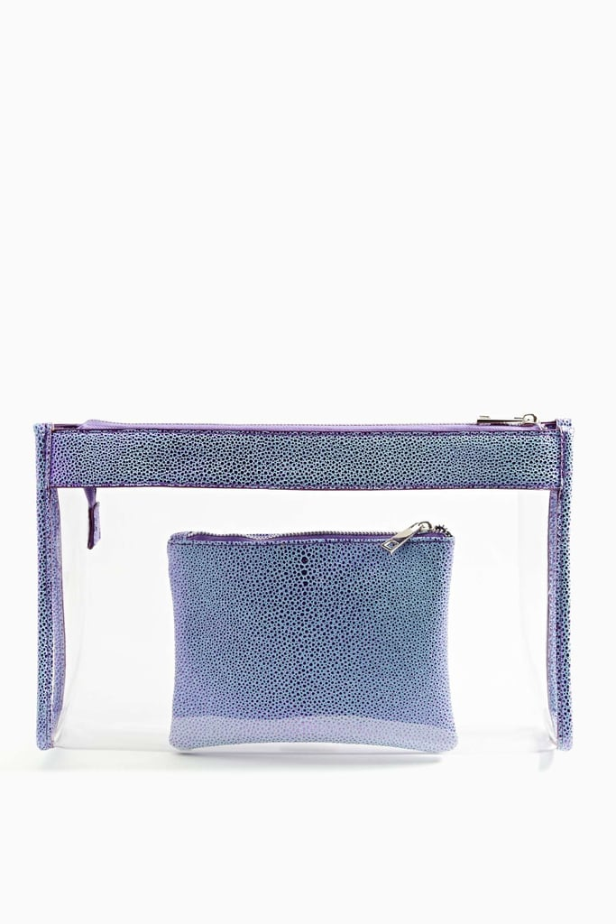 For travel or just to organize the everyday bag, this Nasty Gal In the Clear Clutch Set ($35) makes a thoughtful gift.