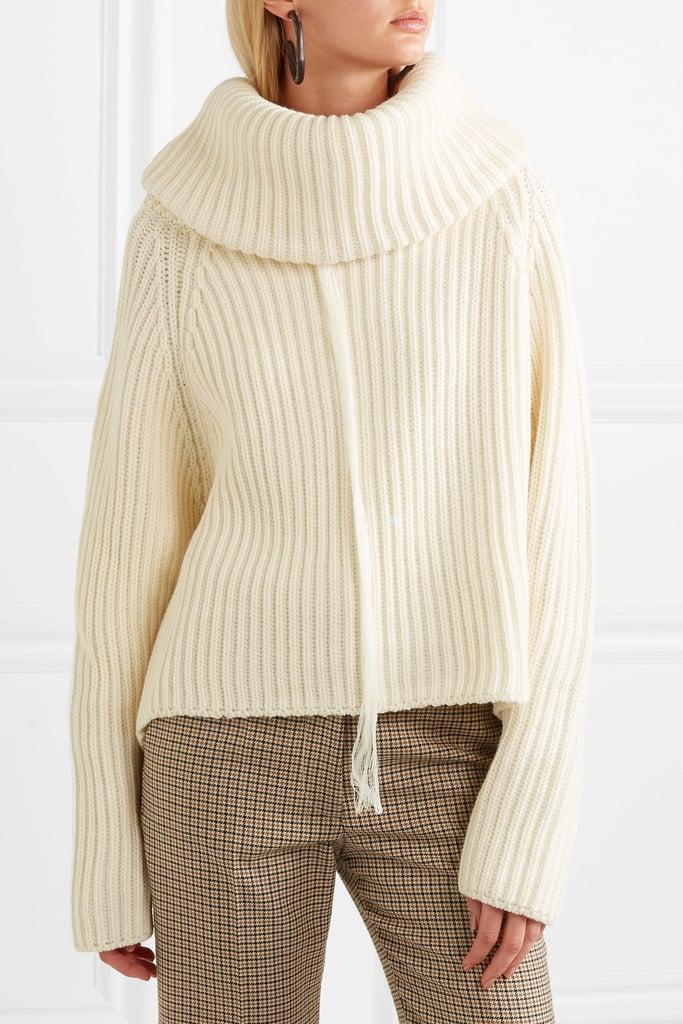 ae5a1eab13d5 Joseph Oversized Ribbed Wool Turtleneck Sweater