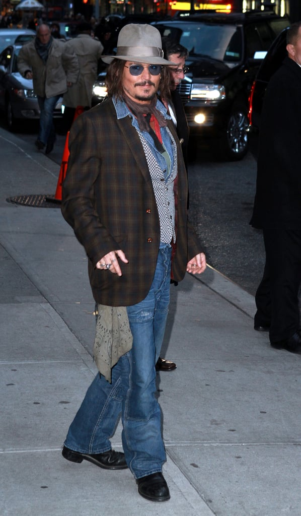 Pictures of Johnny Depp Late Show