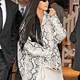 Kim Kardashian's Snakeskin Outfit