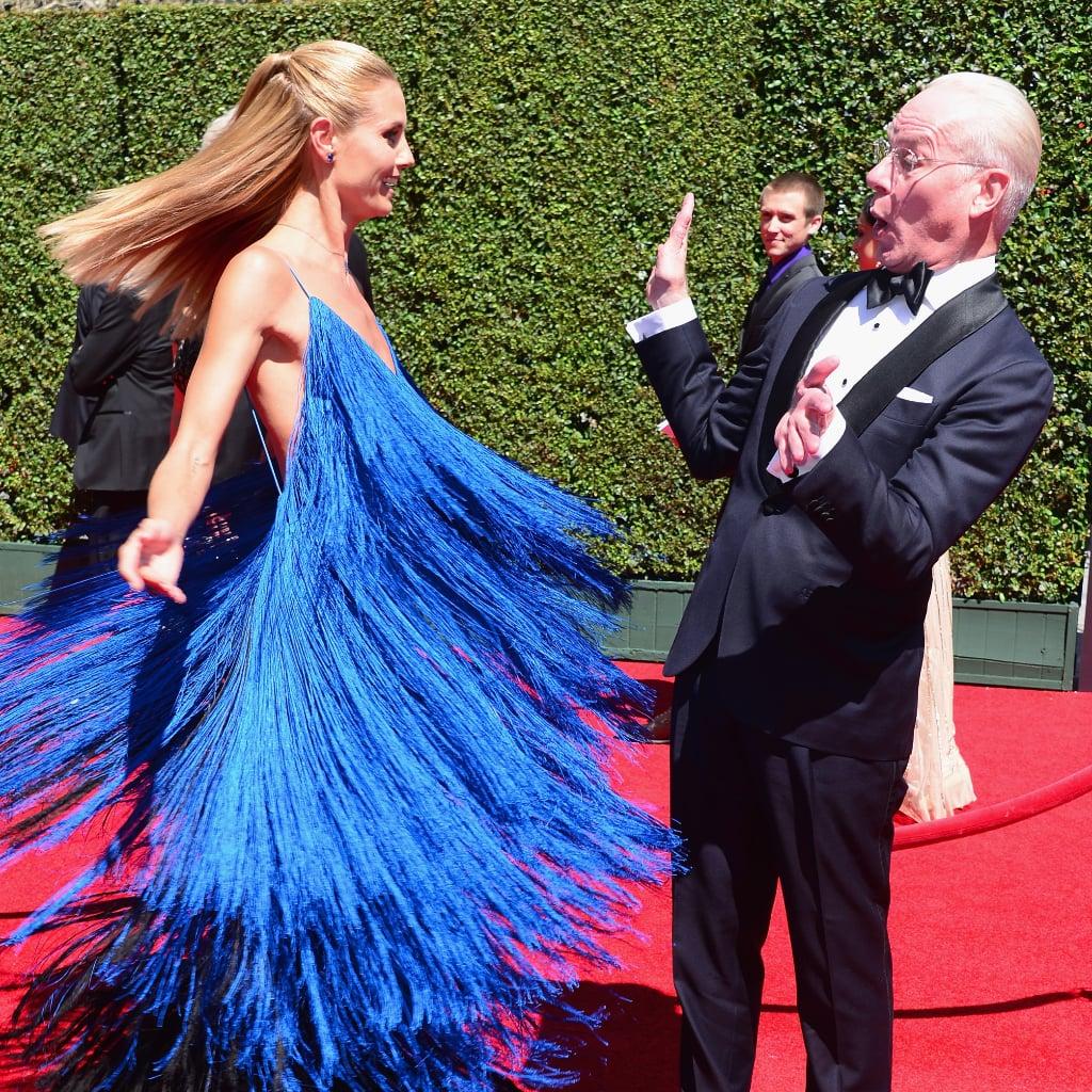 Is Heidi Klum Having TOO Much Fun in That Dress?!