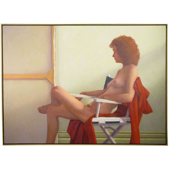 Oil Painting of Nude Woman at Repose by Robert Kinsell ($3750)