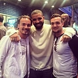 Daniel Clark posted this picture with Drizzy himself and his younger brother, Robby.