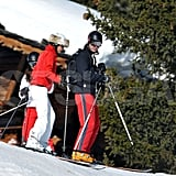 Prince William and Carole Middleton took to the slopes while on a ski vacation in France.