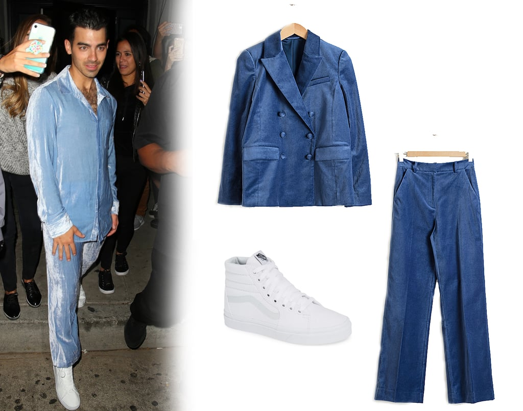 I Want to Be Wearing That: Joe Jonas's Blue Velvet Suit and Vans