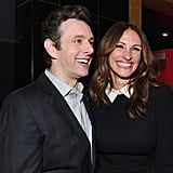 MIchael Sheen and Julia Roberts had fun together at the Jesus Henry Christ premiere in Hollywood.
