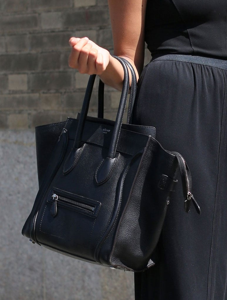 How many Céline totes is that now? The bag scored another point with this street-style sighting. Source: Greg Kessler