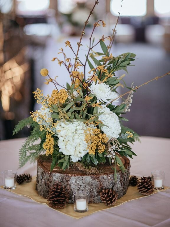 Feature a Rustic Centerpiece