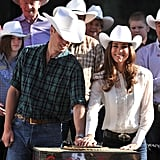 William and Kate were on hand for the Calgary Stampede Parade in July 2011.
