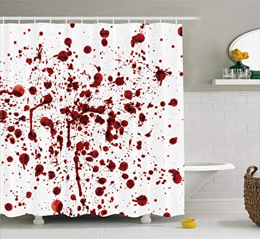 Splashes of Blood Shower Curtain
