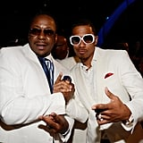 Bobby Brown shook hands with Nick Cannon.