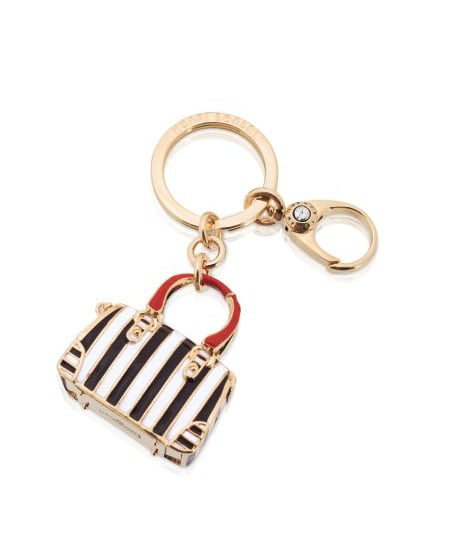 This striped tote key fob by Henry Bendel ($48) takes our love for minibags to new heights.
