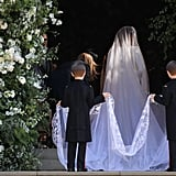 وشاح العرس الملكي لميغان ماركل يحمل دلالة مميّزة