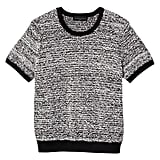 Plus Black and White Short Sleeve Sweater Knit Top   ($28)