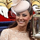 The Duchess of Cambridge accessorised with a  Jane Taylor hat.
