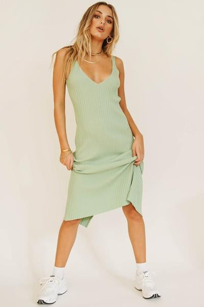 Verge Girl Sipping Cocktails Knit Midi Dress