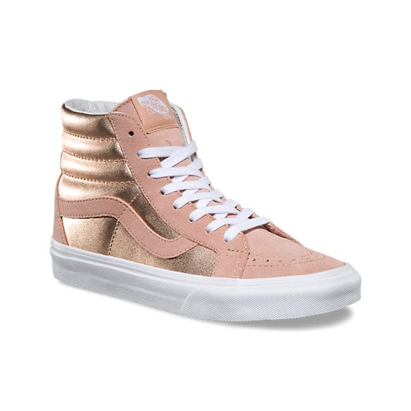 rose gold high top sneakers