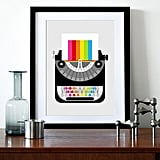 With bright, punchy colors and a modern design, the Rainbow Typewriter Print ($29) is sure to lighten your spirits.