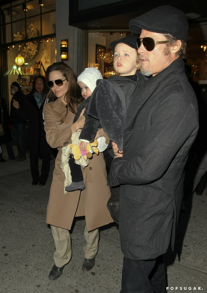 Brad Pitt and Angelina Jolie brought Knox Jolie-Pitt and Vivienne Jolie-Pitt to NYC in December 2010.