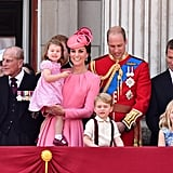 Princess Charlotte and her mom, Kate Middleton, wore matching colors for the annual Trooping the Colour ceremony in 2017.