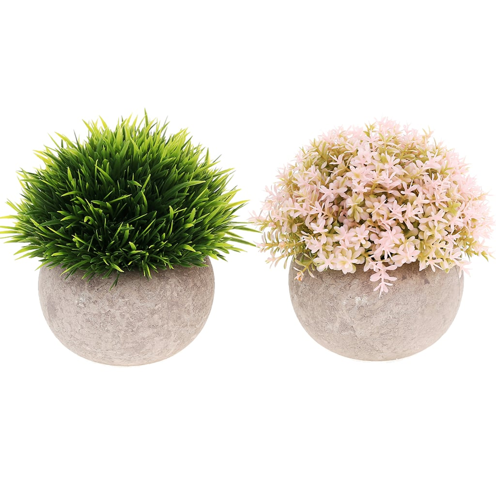 Wynmarts 2-Pack Mini Artificial Plants