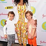 Garcelle Beauvais attended the bash with her two sons.