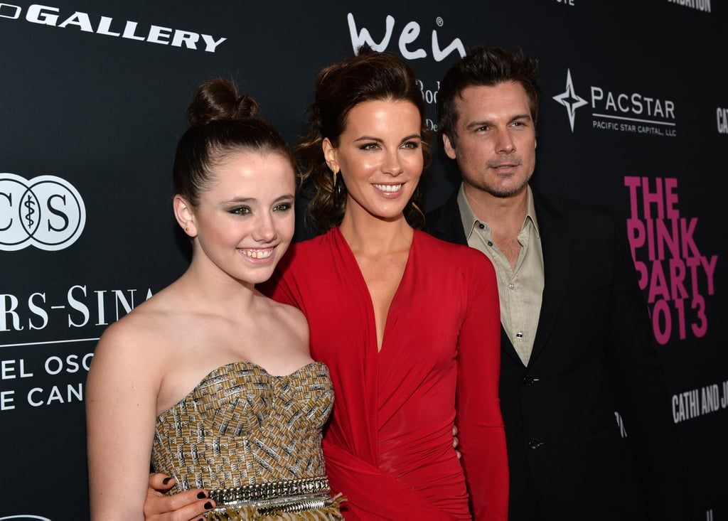 Kate Beckinsale posed with husband Len Wiseman and daughter Lily Sheen.